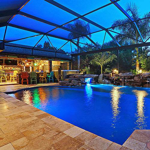 Pool and poolside cabana image