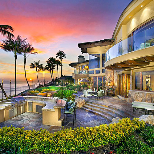 Large beachside home image